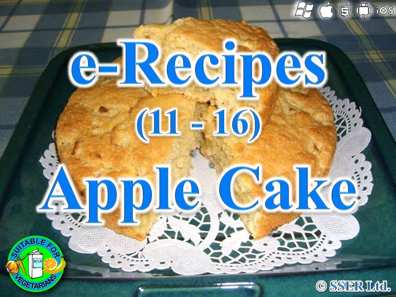 2. Apple Cake (e-Recipe)