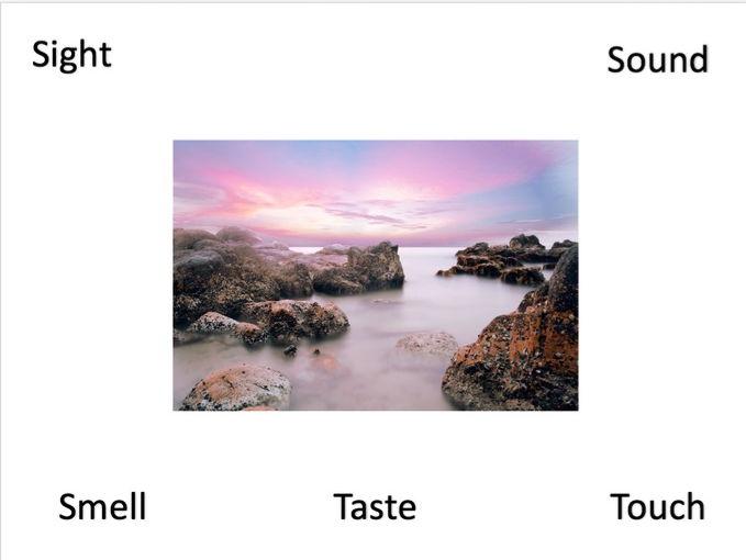 English Creative Writing '5 senses' photo prompts - KS2/KS3/GCSE