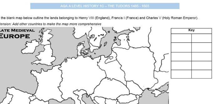 AQA A Level History The Tudors 1C -  Henry VIII and Thomas Wolsey Workbooklet