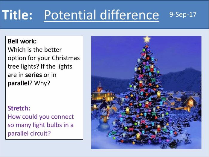 AQA New GCSE Electricity - Lesson 4 - Potential difference