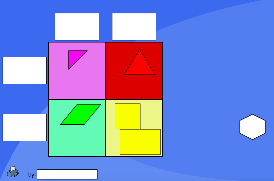 Shape Carroll Diagram (Blank) - Interactive Activity - KS1 Geometry