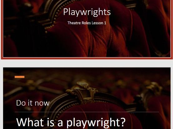 Roles in Theatre SOW