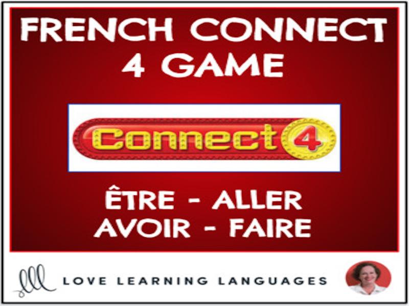 French Connect 4 Game - ÊTRE - ALLER - AVOIR - FAIRE - Present Tense