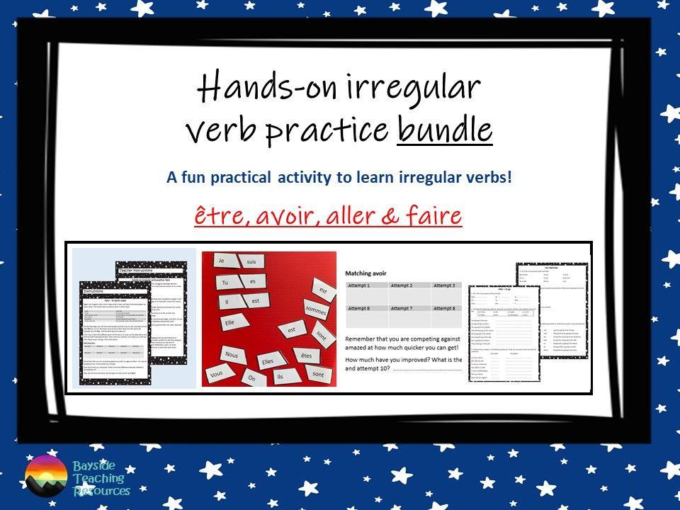 French irregular verb practice bundle