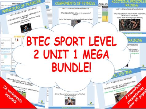 BTEC Sport Level 2 Unit 1 (2018) mega bundle