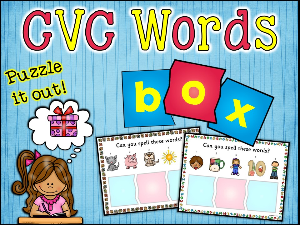 Vocabulary: CVC Words Learning Stations