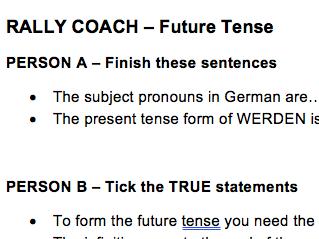 Rally Coach - Peer Assessment - Future Tense
