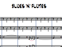 Bluen 'n' Flutes for Flute Choir (3 flutes and alto)