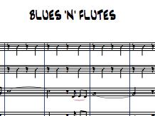 Bluen 'n' Flutes for Flute Choir (3 flutes and alto)