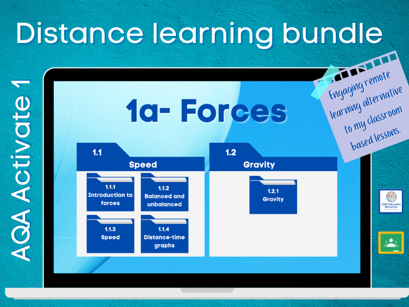 1a Forces- Distance learning bundle (AQA KS3 Activate 1)