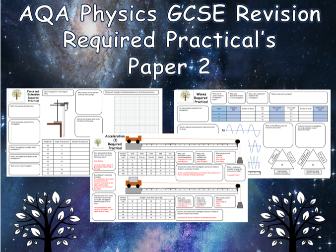 Physics Required Practicals - NEW AQA GCSE Physics Trilogy Paper 2 Revision with Answers