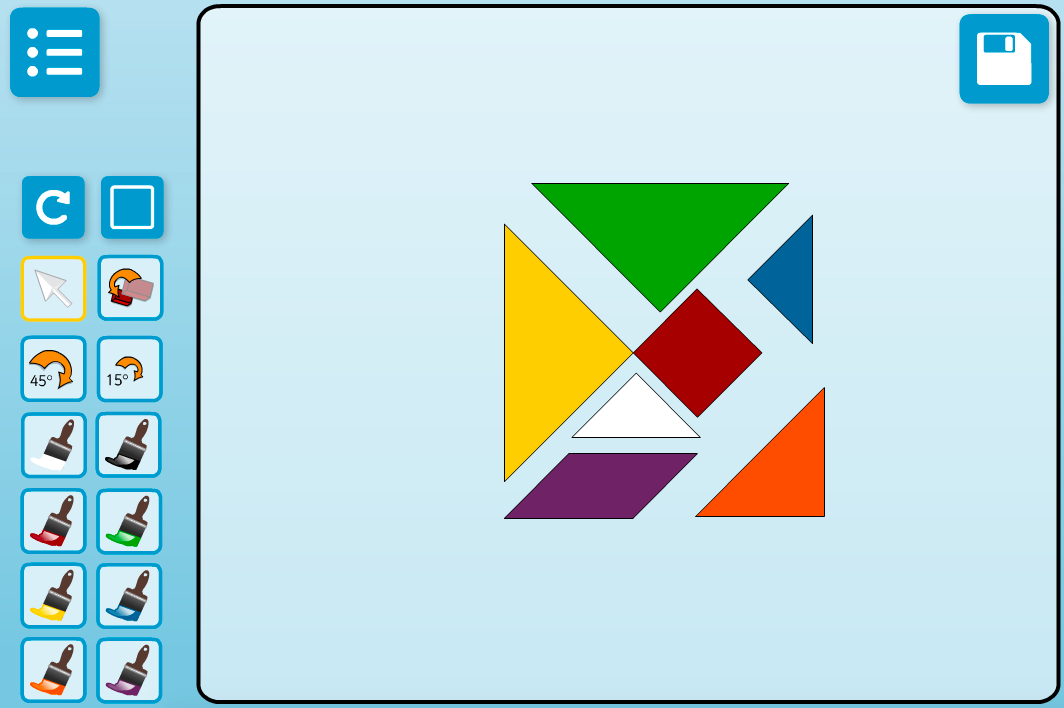 Tangram Explorer Interactive Activity - KS2 Geometry
