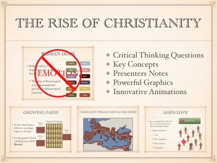 The Rise of Christianity in The Roman Empire PowerPoint and Keynote Presentations