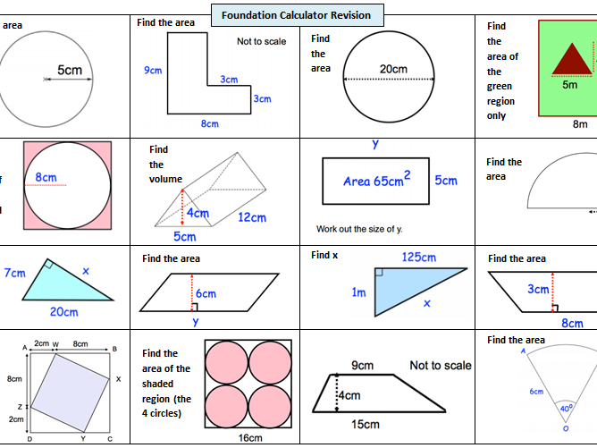 GCSE 9-1 Maths Foundation Revision - Common Calculator Topics