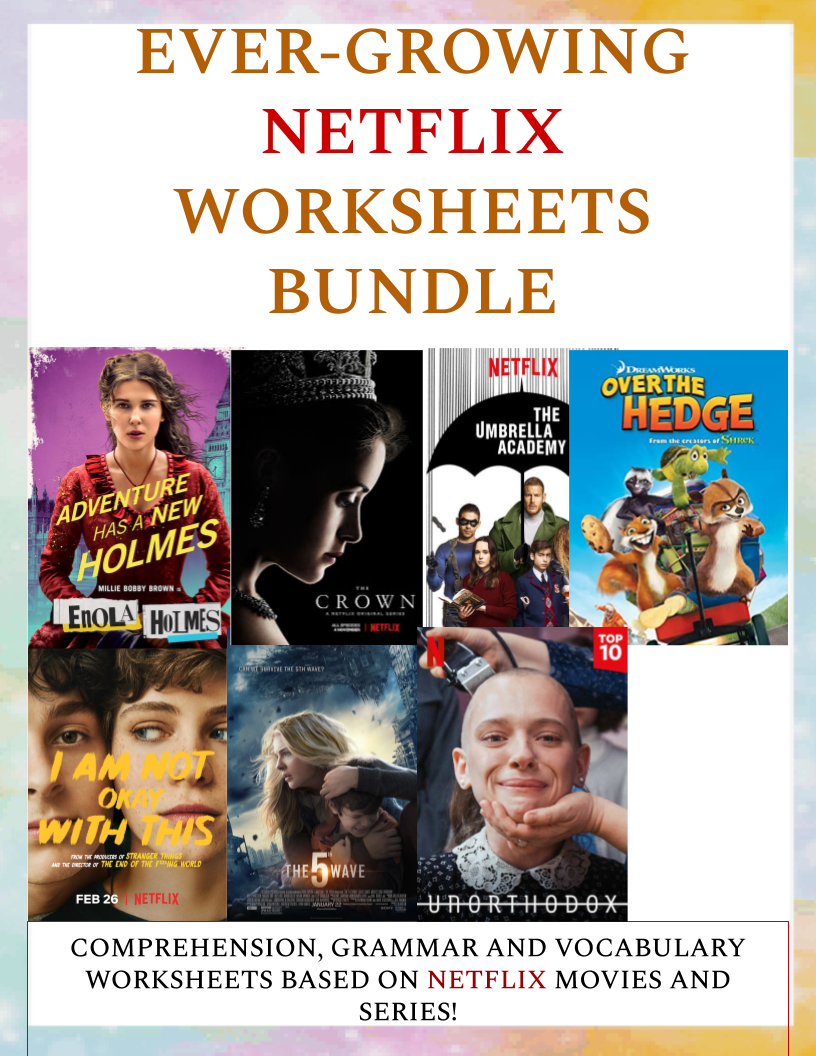 EVER-GROWING NETFLIX WORKSHEETS BUNDLE (50% OFF)