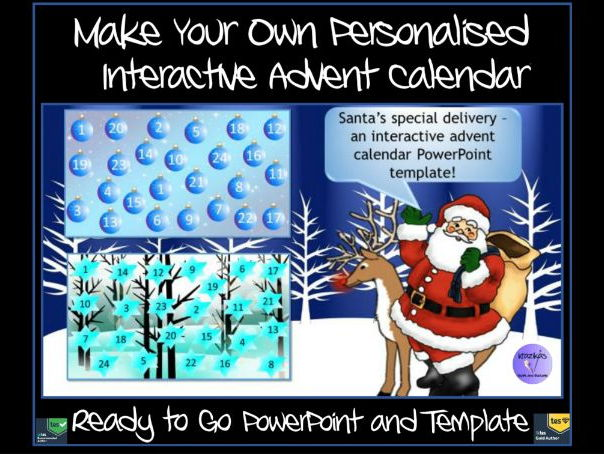 Make Your Own Personalised Advent Calendar Ready Made Interactive