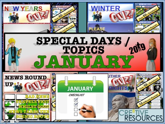 Tutor time activities - January