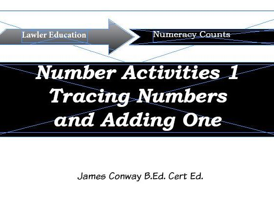 |Number Activities 1: Tracing Numbers and Adding One