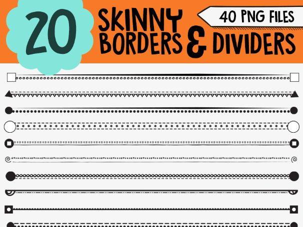 Skinny Borders Clipart • Worksheet Borders & Dividers