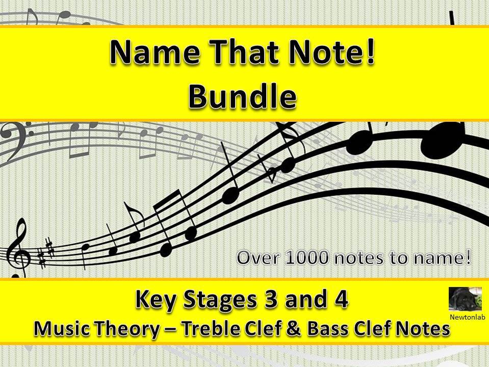 Name That Note! -Treble Clef & Bass Clef Bundle - Key Stages 3 and 4