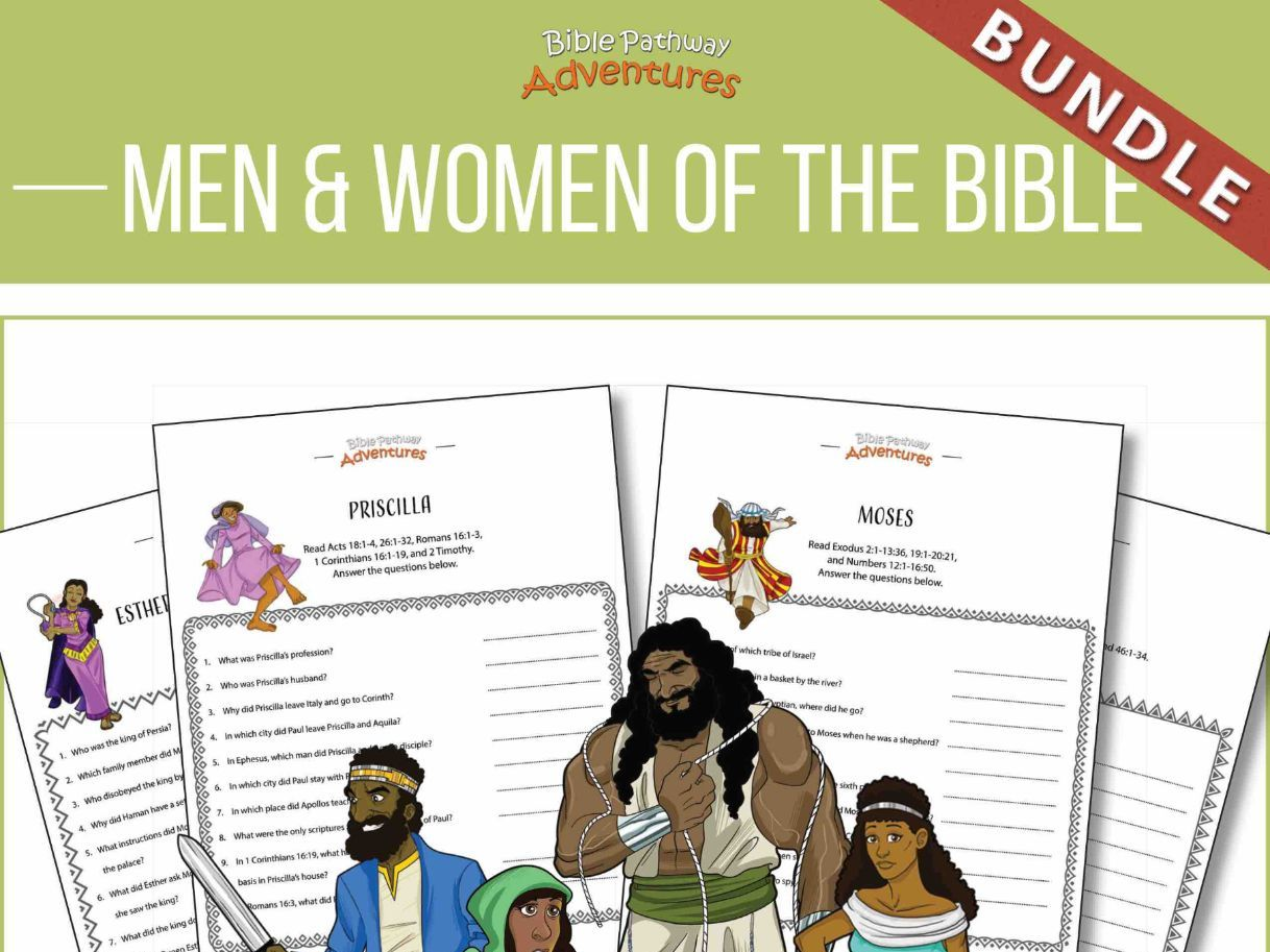 Men and Women of the Bible Quiz Activity Bundle