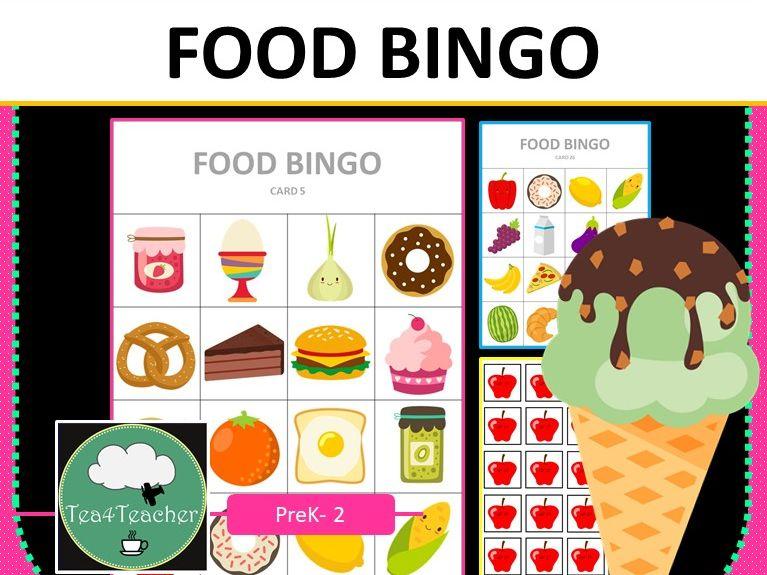 Food Bingo Game