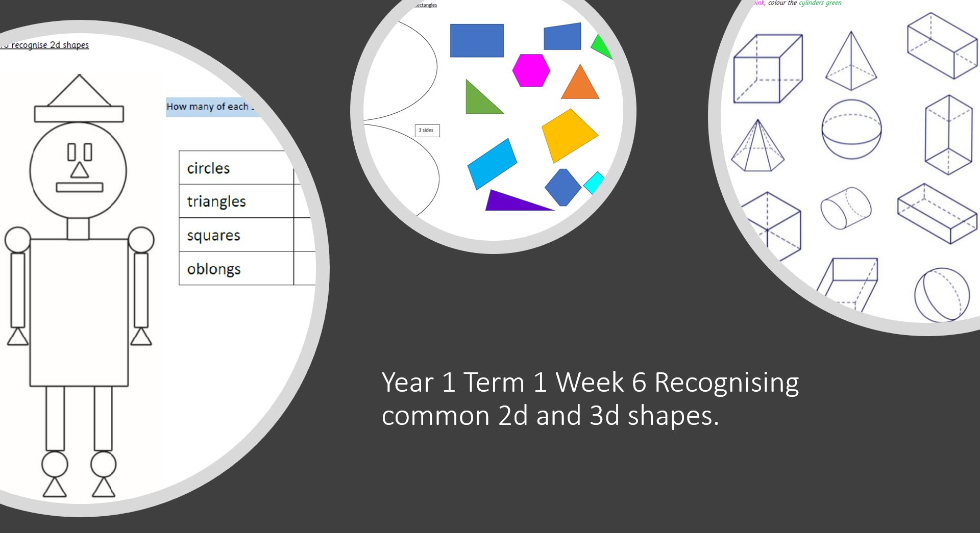 Year 1 Term 1 Week 6 2d and 3d shapes