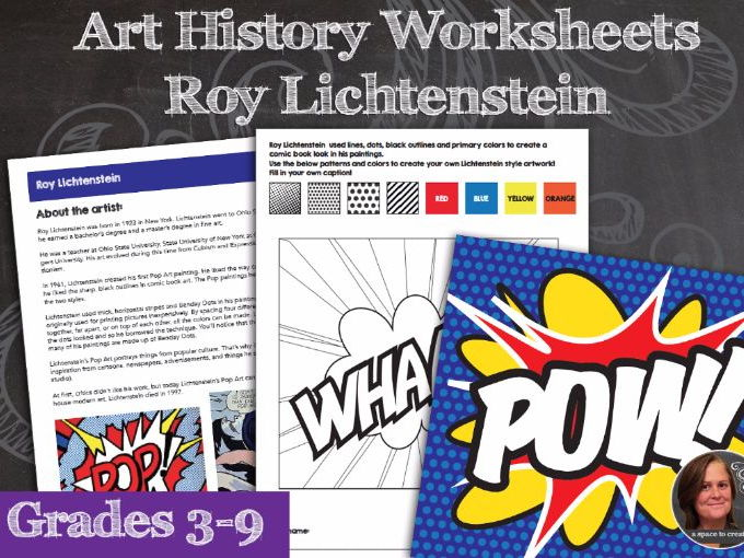 Roy Lichtenstein Art History Packet