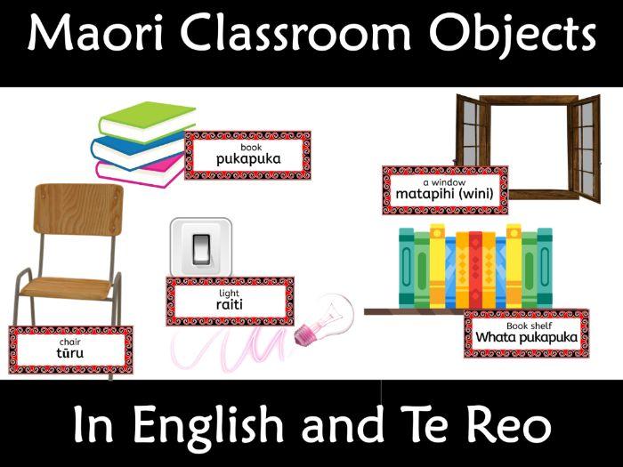 Maori Classroom Object Labels Te Reo