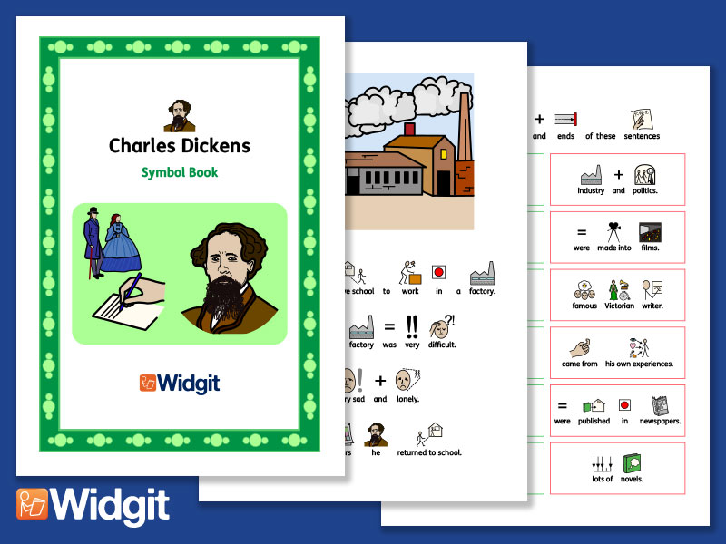 Charles Dickens - Books and Activities with Widgit Symbols
