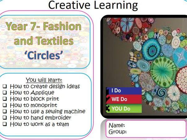 KS3 Art Textiles technique project