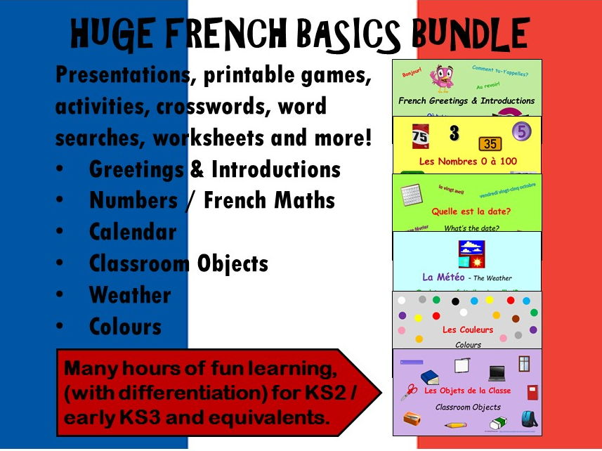 French Basics BUNDLE KS2 / KS3