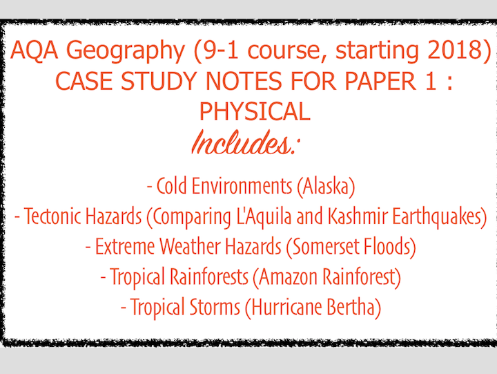 AQA GCSE Physical Geography Case Studies