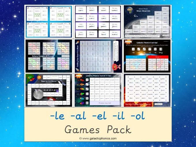 The Mixed -le -al -el -il -ol Games Pack (Year 2)