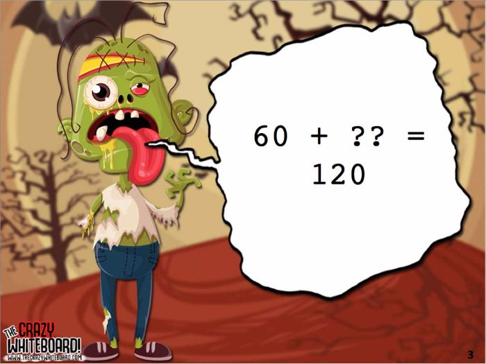 Zombie Attack Maths Addition and Subtraction Problems