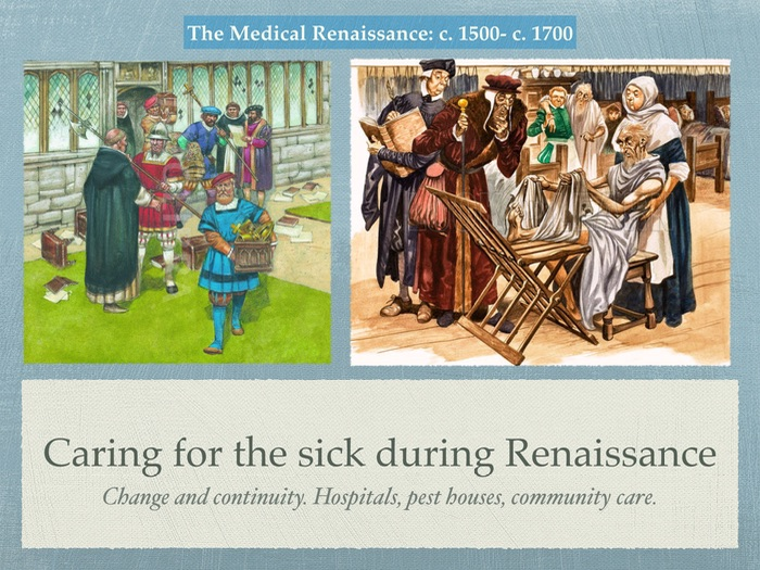 Edexcel GCSE History of Medicine. Renaissance. Caring for the sick.