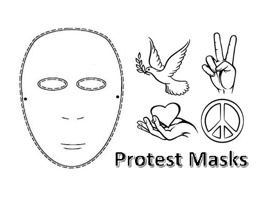KS3 Art Protest Masks Worksheet