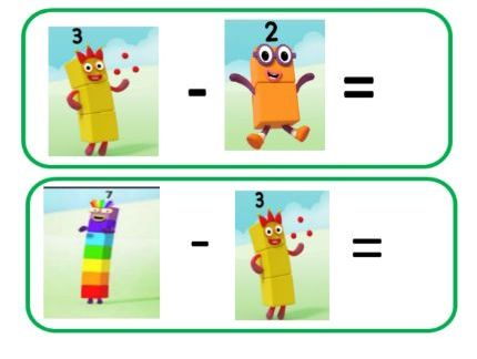 Subtraction Number Sentence Cards