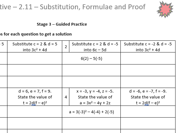 Substitution and Formulae Corrective