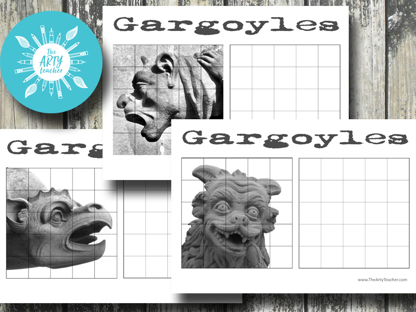 Gargoyle Grid Drawings