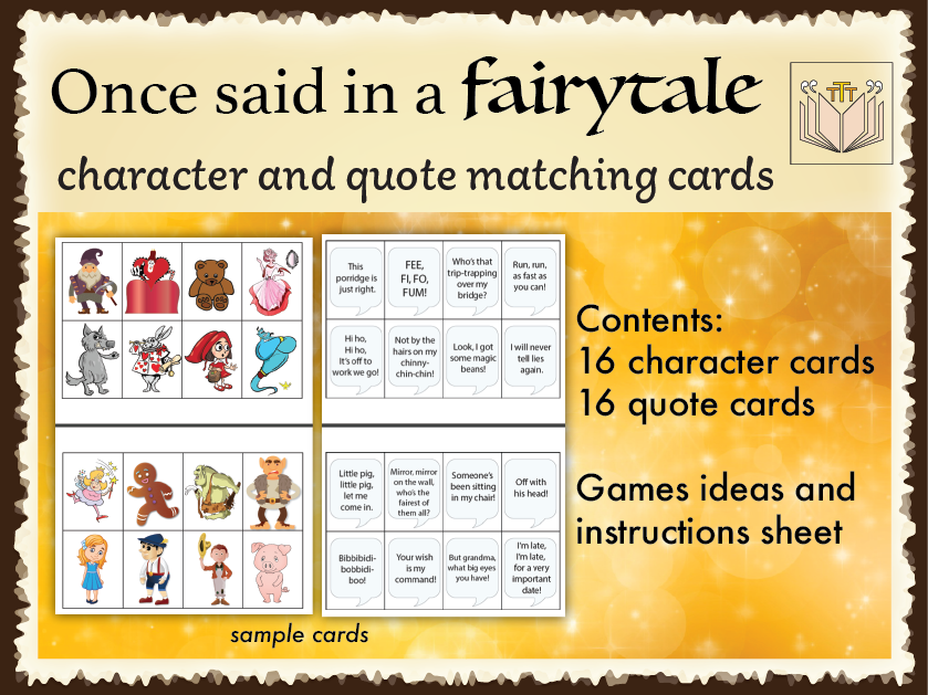 'Once said in a Fairytale' card games
