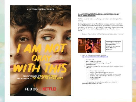 I'm not Okay with this - Netflix 2020 (Trailer Worksheet)