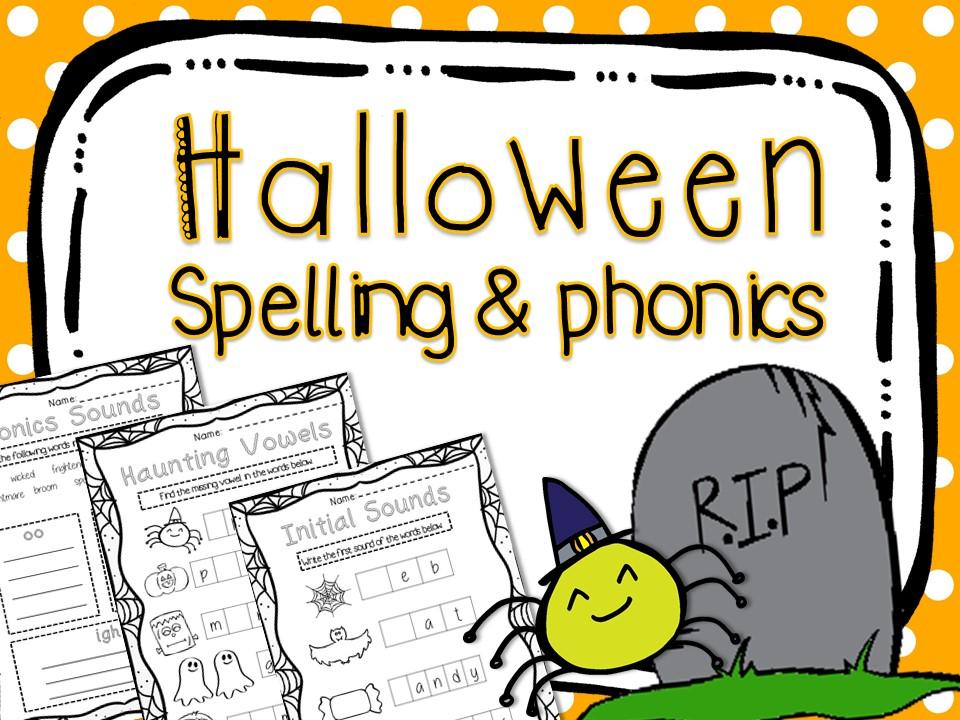 Halloween Spelling & Phonics Worksheets
