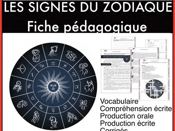 Les traits de caractère. Les signes du zodiaque. FLÉ