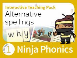 Ninja Phonics Alternatives spellings