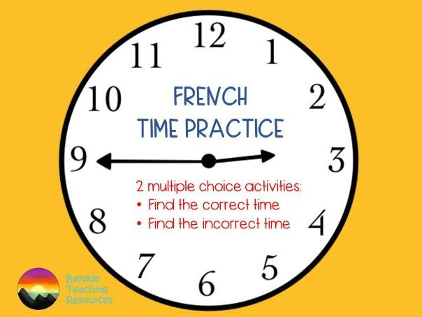 French time: analogue, digital and 24-hour