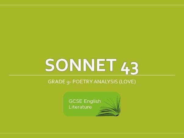 GCSE-EDUQAS-Sonnet 43- Revision Notes- Grade 9