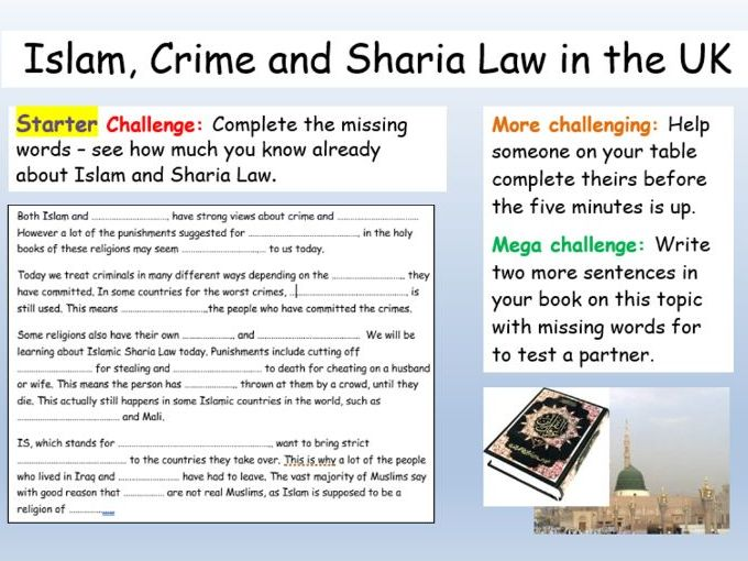 Islam + Extremism : Sharia Law