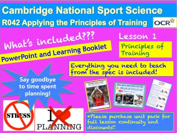 Cambridge National Sports Science R042: Principles of Training