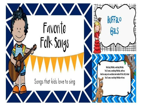 Favorite Folk Songs-Folk Songs Kids Love